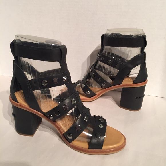 8f0f5e3d0f4 Ugg Macayla Studded Bling Leather Gladiator Heel